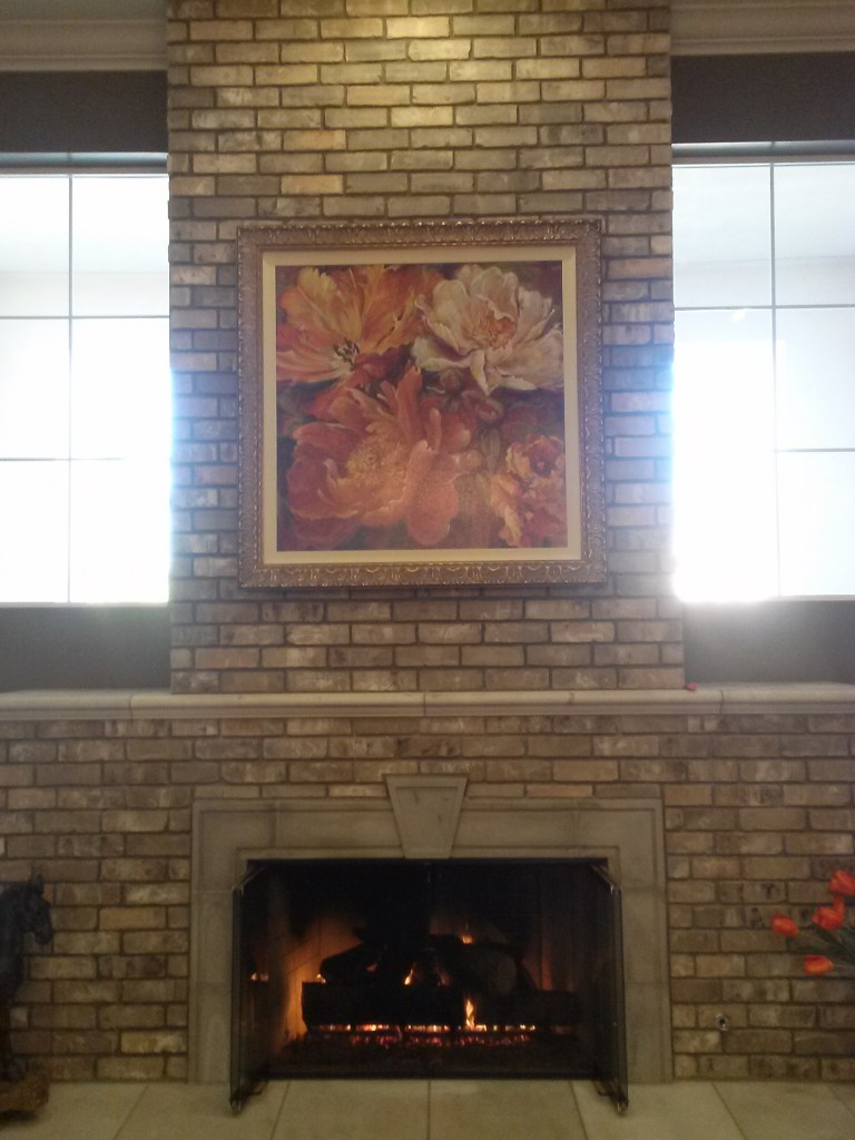 Large picture over fire place