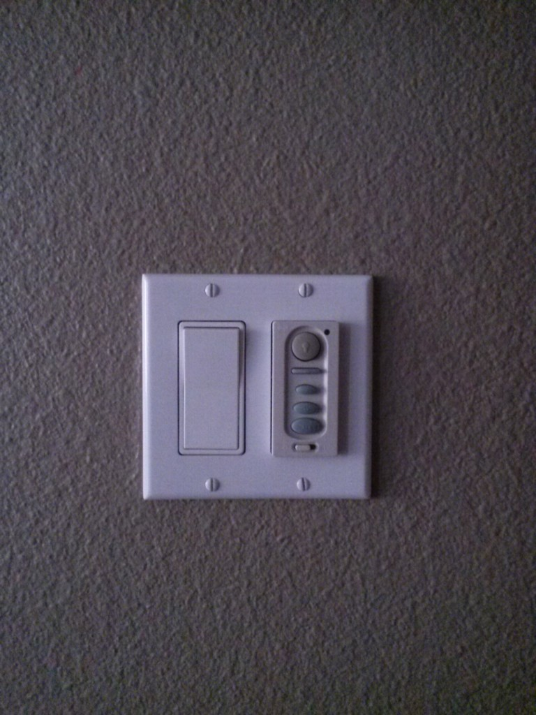 Ceiling fan light/speed switch