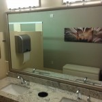 Mirror trim installation in San Marcos