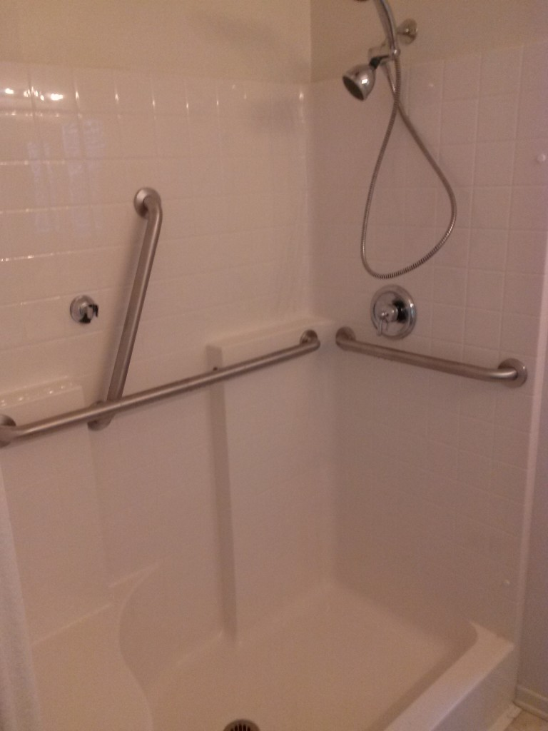 Handicap grab bar installation in San Marcos
