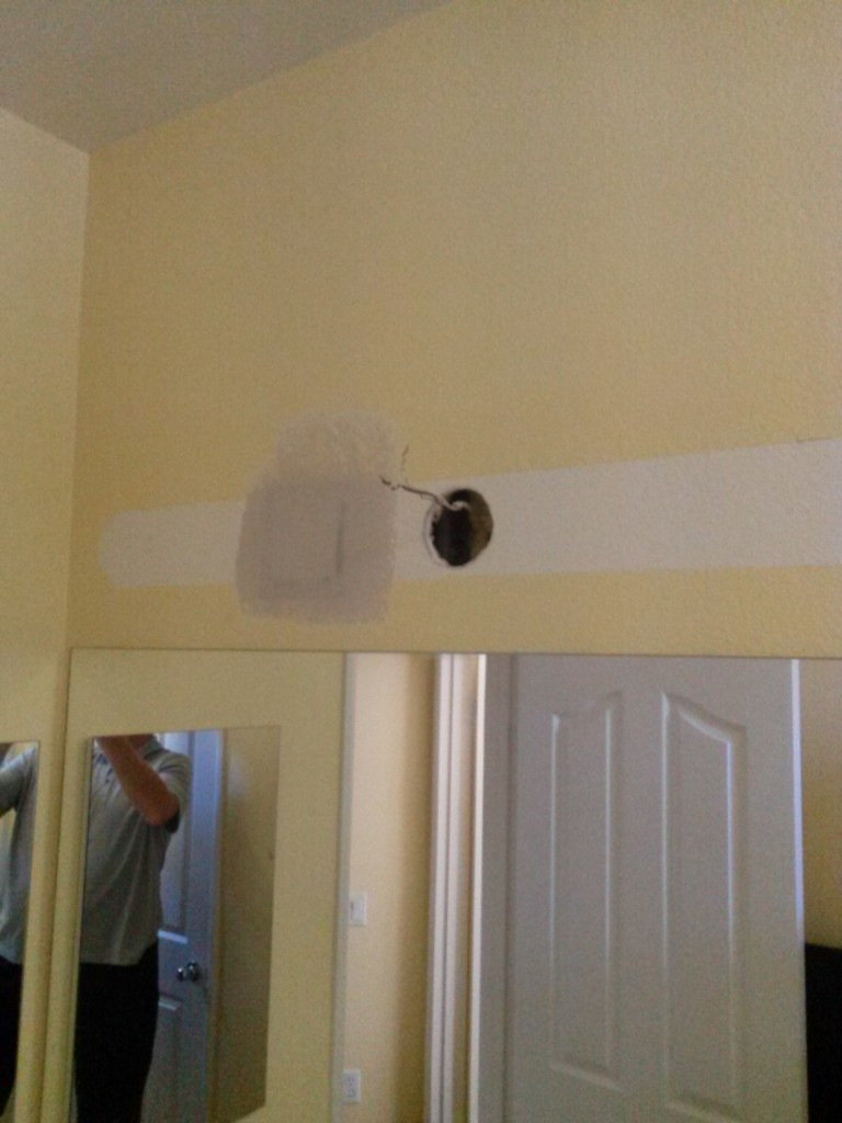 Bathroom light installation San Elijo