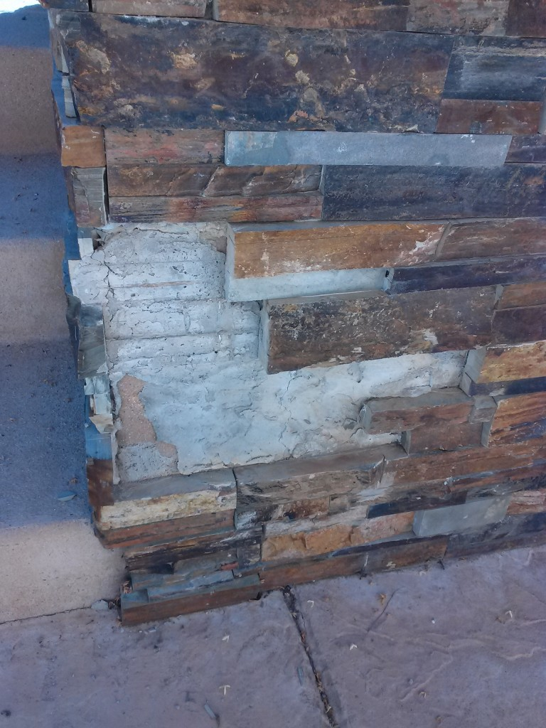 Stone veneer repair Escondido
